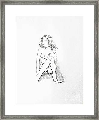 The Relaxing Woman Framed Print