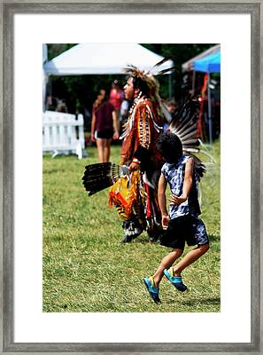 The Relay Framed Print