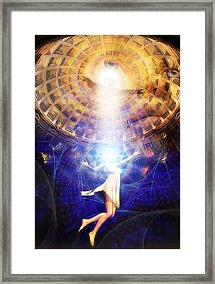 Framed Print featuring the painting The Release Of Religious Dogma by Robby Donaghey