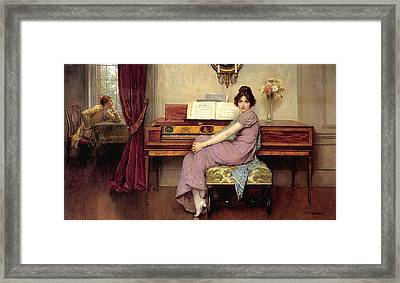 The Reluctant Pianist Framed Print
