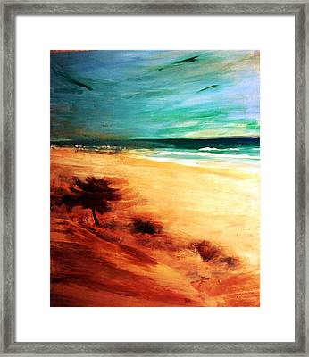 Framed Print featuring the painting The Remaining Pine by Winsome Gunning