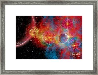 The Remains Of A Supernova Give Birth Framed Print by Mark Stevenson