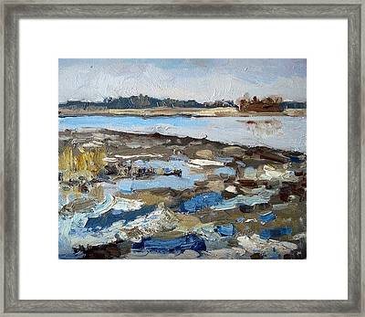 The Remains Of Ice Framed Print by Assol Agaidarova