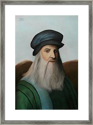 The Master Of Renaissance - Leonardo Da Vinci  Framed Print by Vishvesh Tadsare