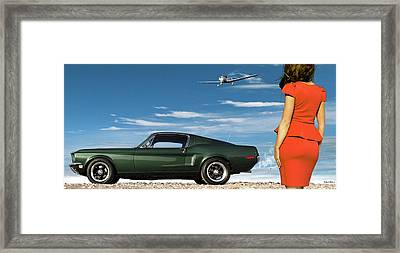 The Rendezvous - 1968 Mustang Fastback Framed Print by Thomas Pollart