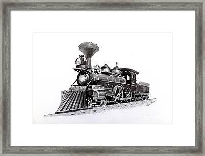The Reno Steam Locomotive Framed Print by Calderdale Art - Stephen Thomas