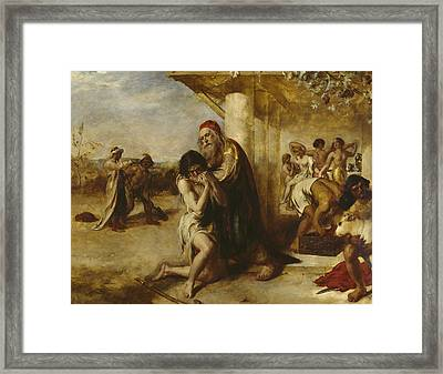 The Repentant Prodigal's Return To His Father Framed Print