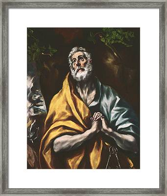The Repentant St. Peter Framed Print