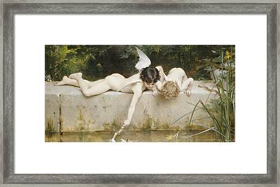 The Rescue Framed Print by Emile Munier