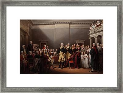The Resignation Of General George Washington Framed Print