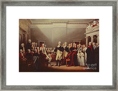 The Resignation Of George Washington Framed Print by John Trumbull