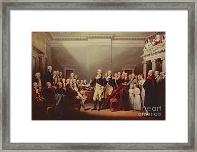 The Resignation Of George Washington Framed Print