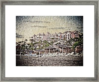The Resort Beach Framed Print by Loriental Photography