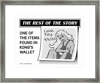 The Rest Of The Story Framed Print by Clif Jackson