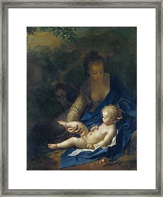The Rest On The Flight Into Egypt Framed Print by Adriaan van der Werff