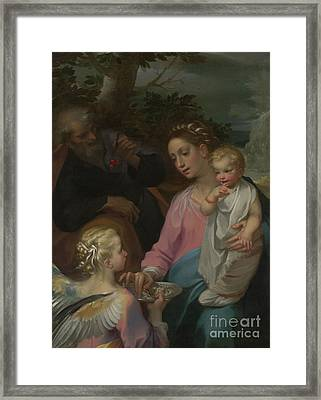 The Rest On The Flight Into Egypt Framed Print by Francesco Vanni