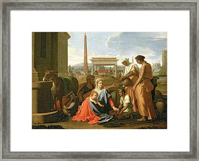 The Rest On The Flight Into Egypt Framed Print by Nicolas Poussin