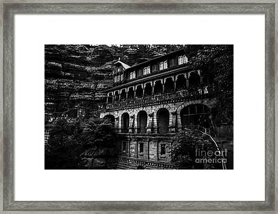 The Restaurant On The Top Of The Mountain Framed Print