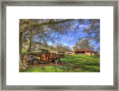 The Resting Place Shadows Framed Print by Reid Callaway