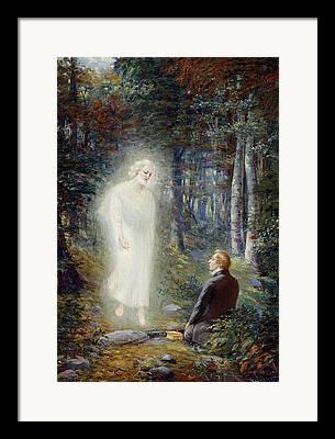 Angel Moroni Paintings Framed Prints