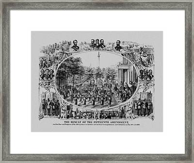 The Result Of The Fifteenth Amendment Framed Print