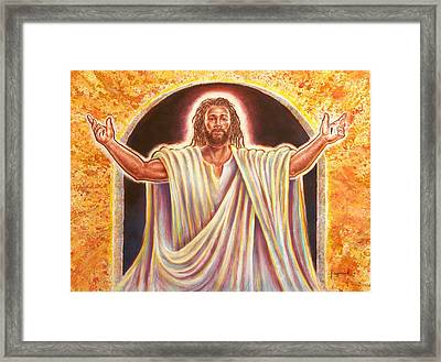 The Resurrection And The Life Framed Print by Raymond Walker