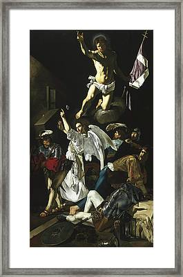 The Resurrection Framed Print by Cecco de Caravaggio