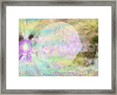 Framed Print featuring the photograph The Resurrection Horizon Event-no Rock Could Hold Him In Garden Tomb Vision Jerusalem 2008 by Anastasia Savage Ealy