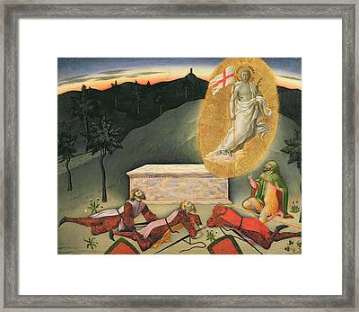 The Resurrection Framed Print by Master of the Osservanza