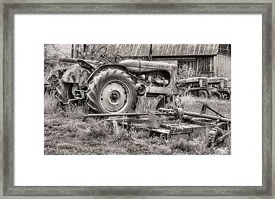 The Retirement Home Black And White Framed Print by JC Findley