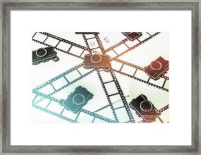 The Retro Camera Reel Framed Print