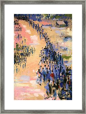 The Return Framed Print by Bayo Iribhogbe