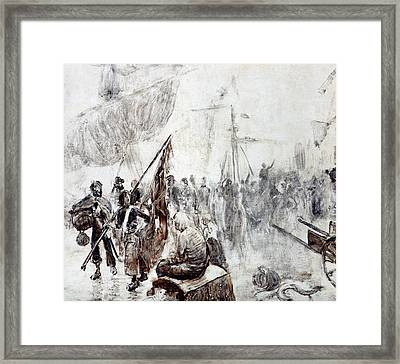 The Return Of The Corsairs Framed Print by Maurice Henri Orange