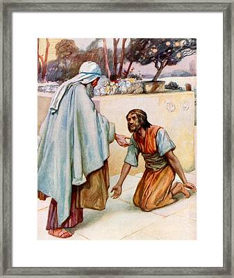 The Return Of The Prodigal Son Framed Print by Arthur A Dixon