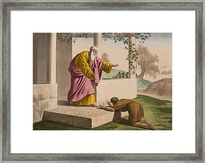 The Return Of The Prodigal Son Framed Print by French School