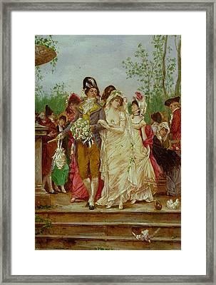 The Revolutionist's Bride, Paris, 1799 Framed Print by Frederik Hendrik Kaemmerer