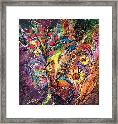 The Rhapsody Of Love Framed Print by Elena Kotliarker