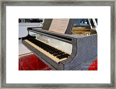 The Rhinestone Piano Framed Print by Mary Deal