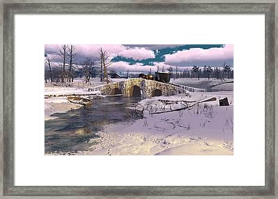 The Rhythm Of Frost Framed Print by Dieter Carlton