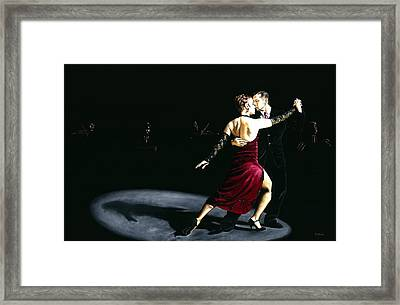 The Rhythm Of Tango Framed Print