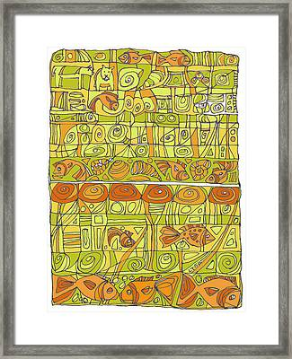 The Rhythm Of Things Framed Print by Linda Kay Thomas