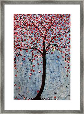 The Rhythm Tree Framed Print by Natalie Briney