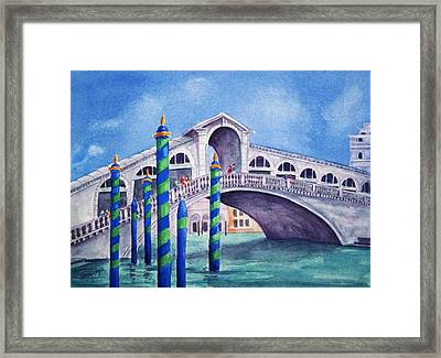 The Rialto Bridge Framed Print