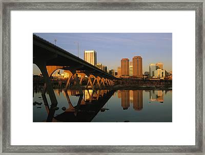 The Richmond, Virginia Skyline Framed Print
