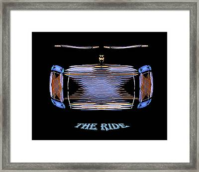Framed Print featuring the digital art The Ride by R Thomas Brass