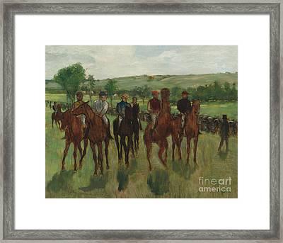 The Riders, 1885 Framed Print by Edgar Degas