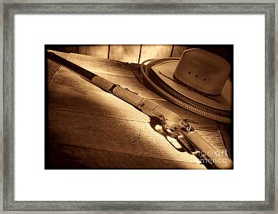 The Rifle Framed Print