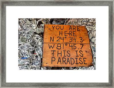 The Right Coordinates Framed Print by JAMART Photography