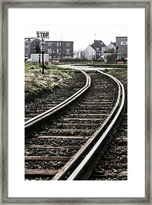 The Right Track? Framed Print
