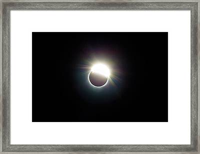 The Ring Of 2017 Solar Eclipse Framed Print